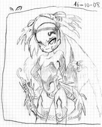 Minnie de Grim tales-sketch by Sommion