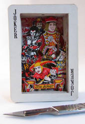 Playing Card Sculpture/52 cards and lots of Jokers by silverscape