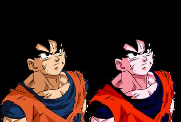 Goku DBS - Two Styles by SaoDVD
