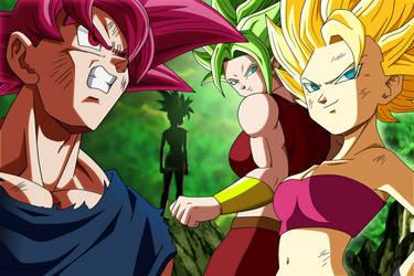 Goku Vs Caulifla y Kale by SaoDVD