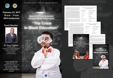 African American History Month Program Ad/Program by ArtiestDesign