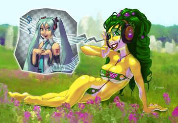 Zopiak and Miku by nakedbat