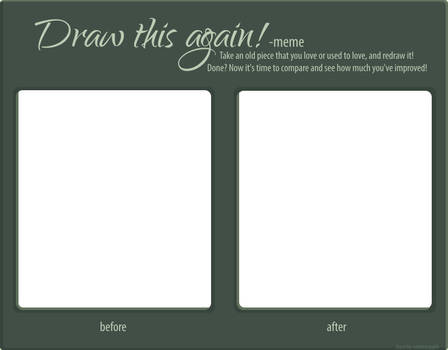 Draw this again! - Template by omenaadopts