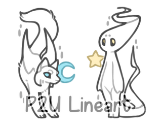 Mooncat and Starkid - P2U by omenaadopts