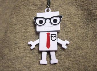 CFO Robot Necklace by pirateking42