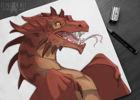 Dragon Sketch by FlyQueen