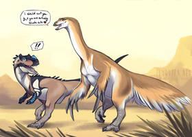 Jurassic Flirting by FlyQueen