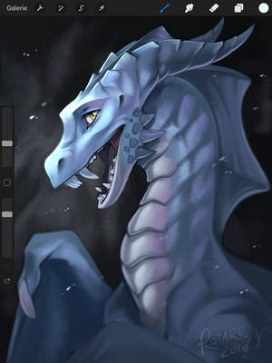 Procreate Dragon by FlyQueen