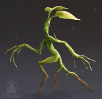 A little Bowtruckle by FlyQueen
