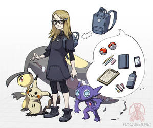 Me in the Pokemon world by FlyQueen