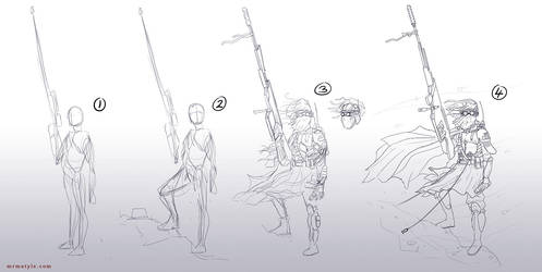 sniper sketching by amiramz