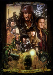 Pirates of the caribbean Poster by amiramz
