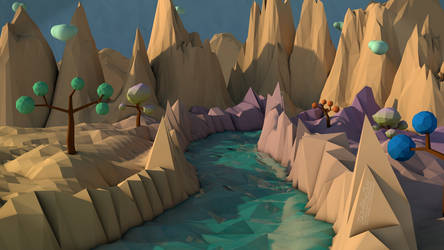 LowPoly Landscape by Th3AlleyCat
