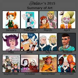 2015 Art Summary Meme by Shadioux