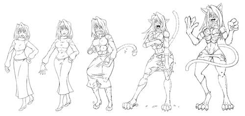 Arcueid Catgirl TF by SutibaruArt