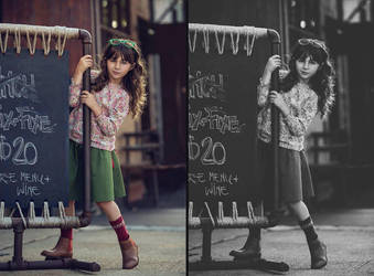 Photoshop Tutorial, Vintage Black and White 2 by supermoustachephoto