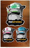 StickerPack by KIWIE-FAT-MONSTER