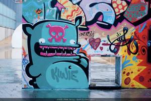 PINK SKULL by KIWIE-FAT-MONSTER