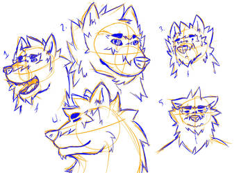Mike's weird sketched faces... lol by Derp-6000