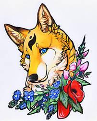 Floral Vixen by Roukara