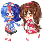 CR [ NO BG : Shiro-Halilintar:OC - Grace and Sue ] by KikoChi
