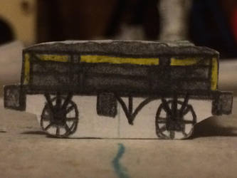 Three plank wagon-Grey and yellow by Trains333