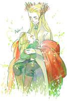 Thranduil and his green leaf by harmonia3784