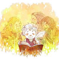 Bilbo's memory with Durin family by harmonia3784