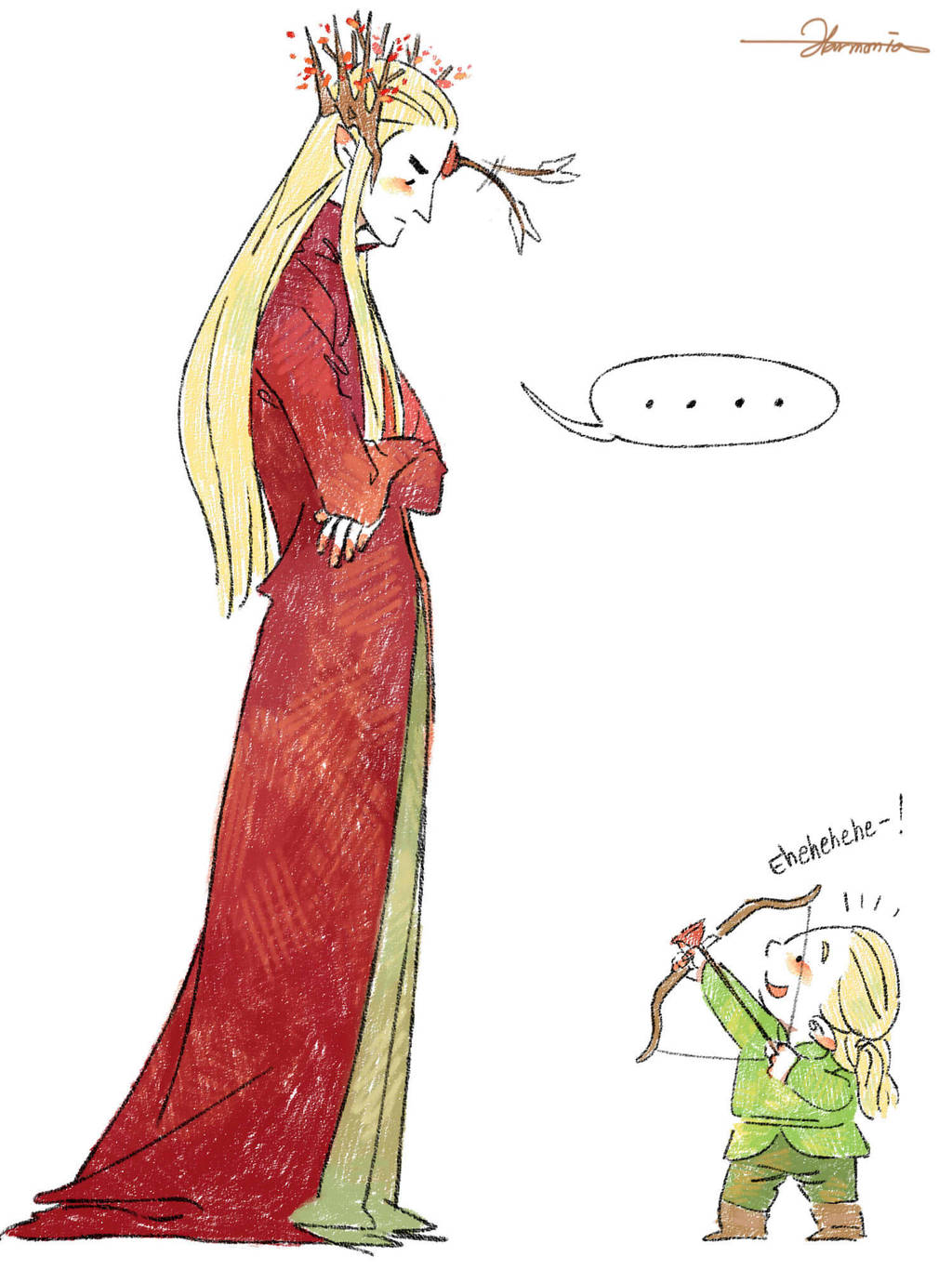 Mischievous Legolas!! 02 by harmonia3784