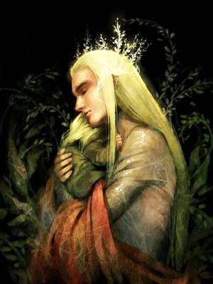 Thranduil and young Legolas by harmonia3784