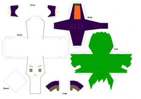 Joker Paper Doll Template by ChibiAddict
