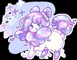 custom flufferbun: pastel galaxy cake! by plushpon