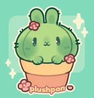 a cactus bun! by plushpon