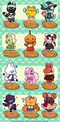 OPEN 1/12 - Villager Adopt Batch - Spooky! by plushpon