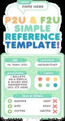 F2U / P2U Simple reference / profile template! by plushpon