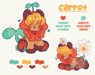 carrot, the little veggie gardener! by plushpon