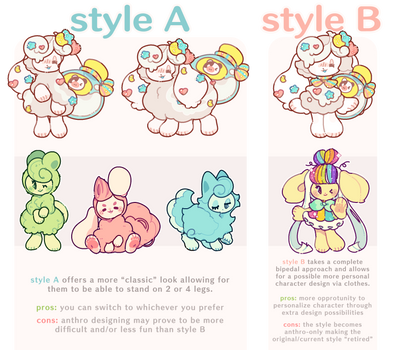 Poll: Style A or Style B? by plushpon
