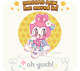 custom paint brush villager: Pastel Rabbit! by plushpon