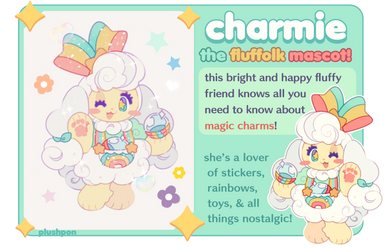 fluffolk mascot: charmie! by plushpon
