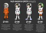 The Space Kids : Spacesuit Variants by ZhmieXD