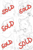 Headshot YCH - SOLD by Kiboku