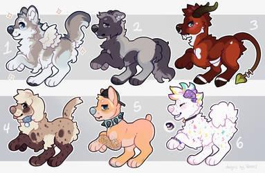 Chibi Pup Adopts - SOLD by Kiboku