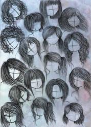 anime or manga hair styles 2 by VillainAurora