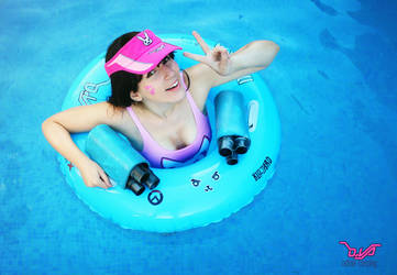 D.Va Pool Party by OdiniaCosplay