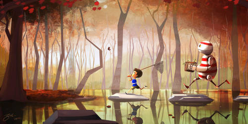 Chasing Butterflies by GorosArt
