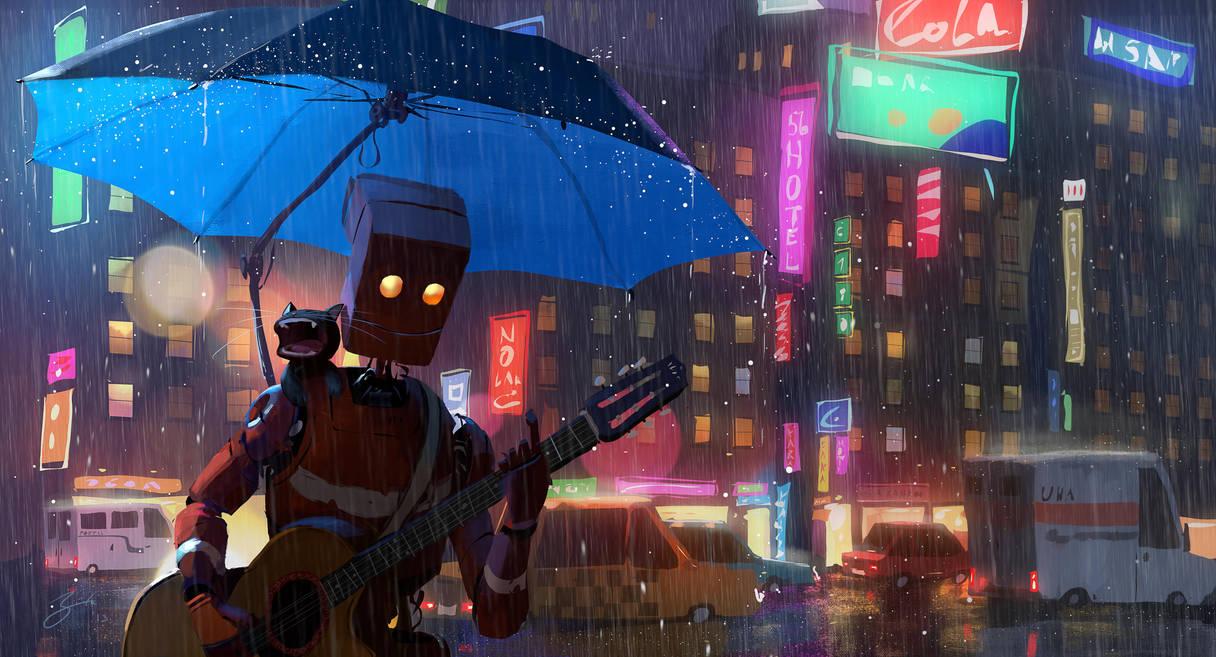 Singing In The Rain by GorosArt