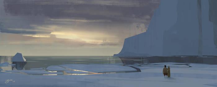 Frozen Beach by GorosArt