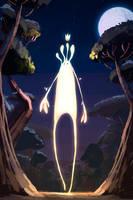 Forest God by GorosArt