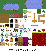 RPG Tileset Public Domain by Russpuppy