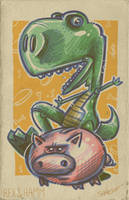 toy story _ rex and ham by petipoa